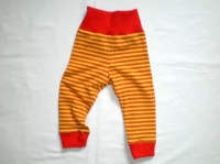 Bio-Ringel-Legging gelb/orange