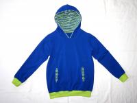 Bio Kaputzensweater blau